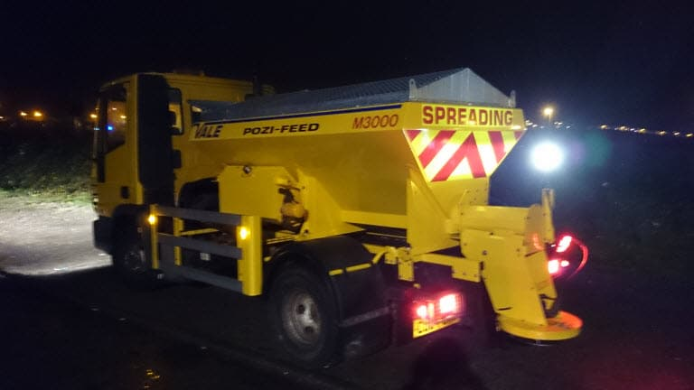 winter gritting cardiff