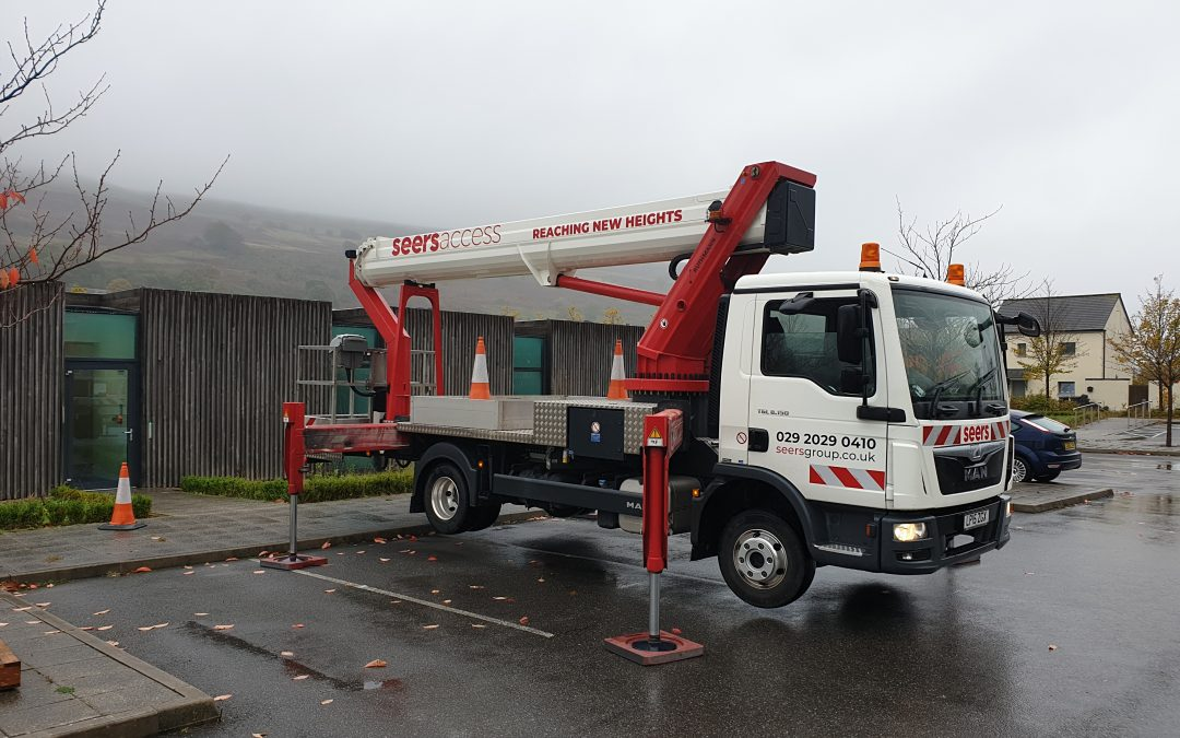 Ruthmann T330 truck mounted cherry picker