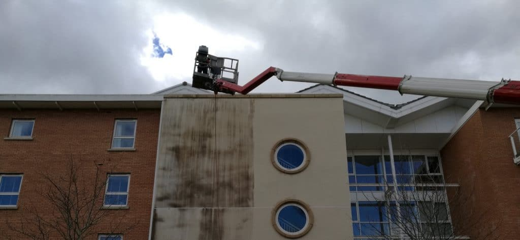 Apartment Block Render Cleaning